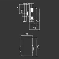 Untere Rolle M13 für duschkabinen