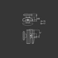 Obere Rolle M01 für duschkabinen