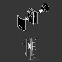 Obere Rolle M16 für duschkabinen