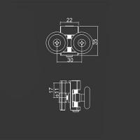 Obere Doppelrolle M18 für duschkabinen