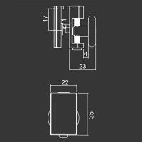 Untere Rolle M11 für duschkabinen