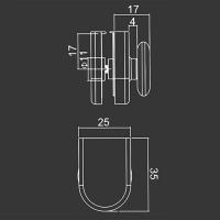 Obere Rolle M08 für duschkabinen