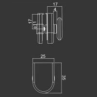 Untere Rolle M08 für duschkabinen